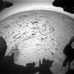 Nasa's Mars rover Curiosity acquired this image using its Front Hazard Avoidance Camera (Front Hazcam) on Sol 455, at drive 378, site number 23