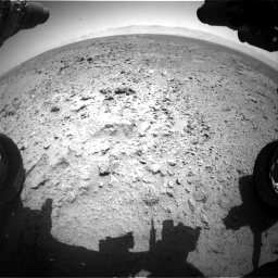 Nasa's Mars rover Curiosity acquired this image using its Front Hazard Avoidance Camera (Front Hazcam) on Sol 455, at drive 384, site number 23