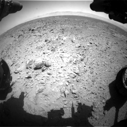 Nasa's Mars rover Curiosity acquired this image using its Front Hazard Avoidance Camera (Front Hazcam) on Sol 455, at drive 396, site number 23