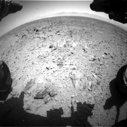 Nasa's Mars rover Curiosity acquired this image using its Front Hazard Avoidance Camera (Front Hazcam) on Sol 455, at drive 402, site number 23