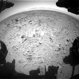 Nasa's Mars rover Curiosity acquired this image using its Front Hazard Avoidance Camera (Front Hazcam) on Sol 455, at drive 408, site number 23