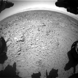 Nasa's Mars rover Curiosity acquired this image using its Front Hazard Avoidance Camera (Front Hazcam) on Sol 455, at drive 432, site number 23
