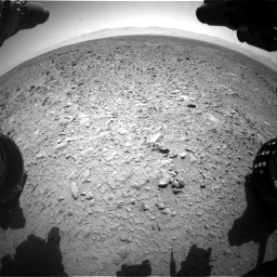 Nasa's Mars rover Curiosity acquired this image using its Front Hazard Avoidance Camera (Front Hazcam) on Sol 455, at drive 450, site number 23