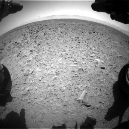 Nasa's Mars rover Curiosity acquired this image using its Front Hazard Avoidance Camera (Front Hazcam) on Sol 455, at drive 456, site number 23