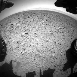 Nasa's Mars rover Curiosity acquired this image using its Front Hazard Avoidance Camera (Front Hazcam) on Sol 455, at drive 468, site number 23