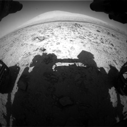 Nasa's Mars rover Curiosity acquired this image using its Front Hazard Avoidance Camera (Front Hazcam) on Sol 455, at drive 498, site number 23