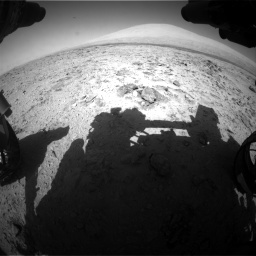 Nasa's Mars rover Curiosity acquired this image using its Front Hazard Avoidance Camera (Front Hazcam) on Sol 455, at drive 510, site number 23