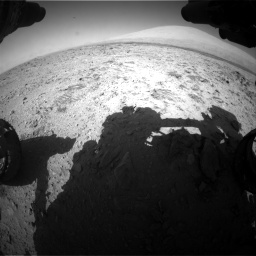 Nasa's Mars rover Curiosity acquired this image using its Front Hazard Avoidance Camera (Front Hazcam) on Sol 455, at drive 522, site number 23