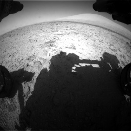 Nasa's Mars rover Curiosity acquired this image using its Front Hazard Avoidance Camera (Front Hazcam) on Sol 455, at drive 546, site number 23
