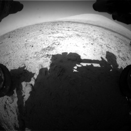 Nasa's Mars rover Curiosity acquired this image using its Front Hazard Avoidance Camera (Front Hazcam) on Sol 455, at drive 552, site number 23