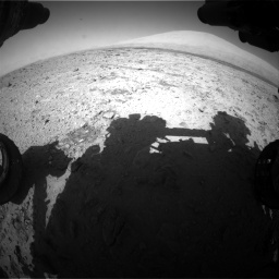 Nasa's Mars rover Curiosity acquired this image using its Front Hazard Avoidance Camera (Front Hazcam) on Sol 455, at drive 558, site number 23