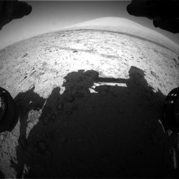 Nasa's Mars rover Curiosity acquired this image using its Front Hazard Avoidance Camera (Front Hazcam) on Sol 455, at drive 576, site number 23