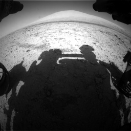 Nasa's Mars rover Curiosity acquired this image using its Front Hazard Avoidance Camera (Front Hazcam) on Sol 455, at drive 588, site number 23