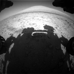Nasa's Mars rover Curiosity acquired this image using its Front Hazard Avoidance Camera (Front Hazcam) on Sol 455, at drive 594, site number 23