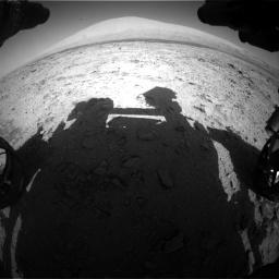Nasa's Mars rover Curiosity acquired this image using its Front Hazard Avoidance Camera (Front Hazcam) on Sol 455, at drive 600, site number 23