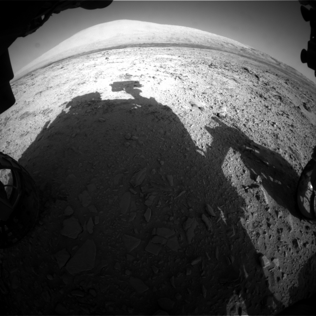 NASA's Mars rover Curiosity acquired this image using its Front Hazard Avoidance Cameras (Front Hazcams) on Sol 456