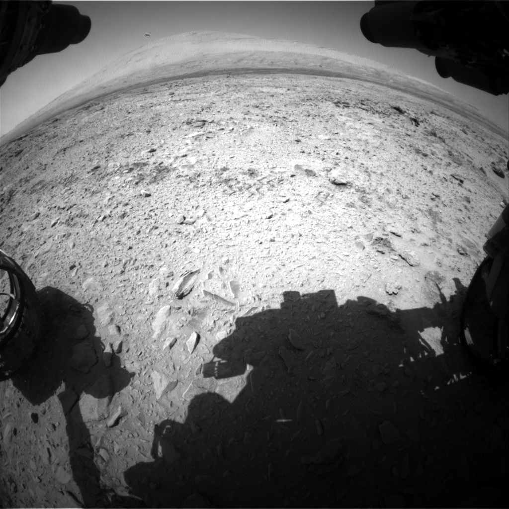 Nasa's Mars rover Curiosity acquired this image using its Front Hazard Avoidance Camera (Front Hazcam) on Sol 456, at drive 616, site number 23
