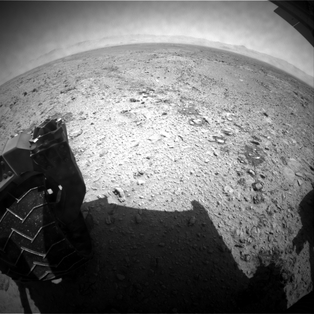 NASA's Mars rover Curiosity acquired this image using its Rear Hazard Avoidance Cameras (Rear Hazcams) on Sol 456