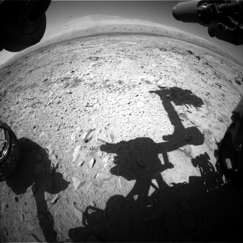 Nasa's Mars rover Curiosity acquired this image using its Front Hazard Avoidance Camera (Front Hazcam) on Sol 463, at drive 616, site number 23
