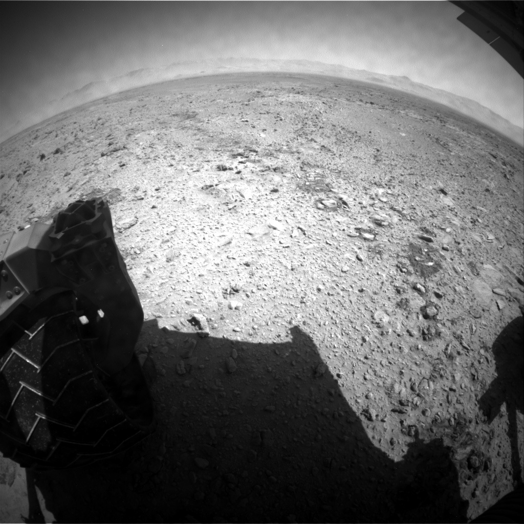 NASA's Mars rover Curiosity acquired this image using its Rear Hazard Avoidance Cameras (Rear Hazcams) on Sol 463