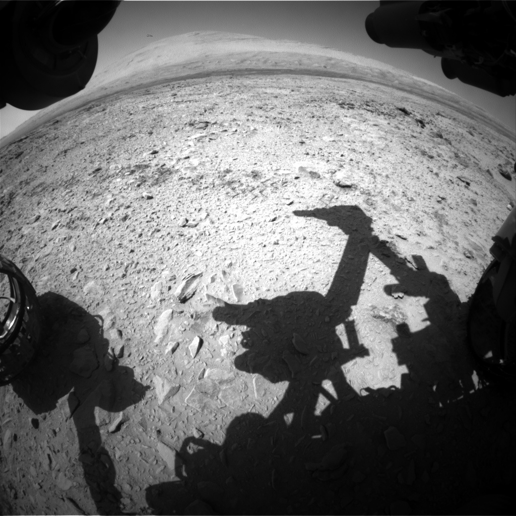 NASA's Mars rover Curiosity acquired this image using its Front Hazard Avoidance Cameras (Front Hazcams) on Sol 464