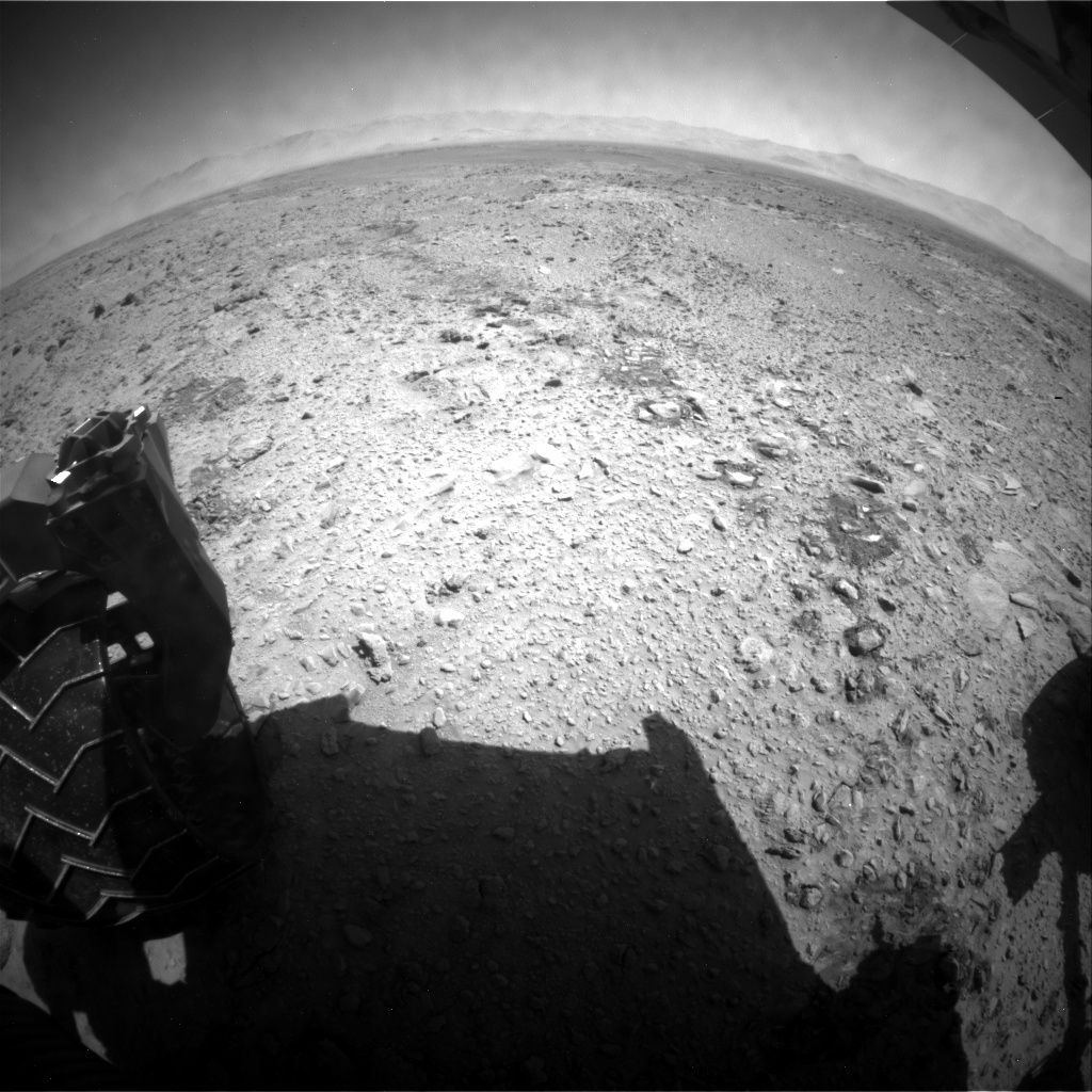 NASA's Mars rover Curiosity acquired this image using its Rear Hazard Avoidance Cameras (Rear Hazcams) on Sol 465