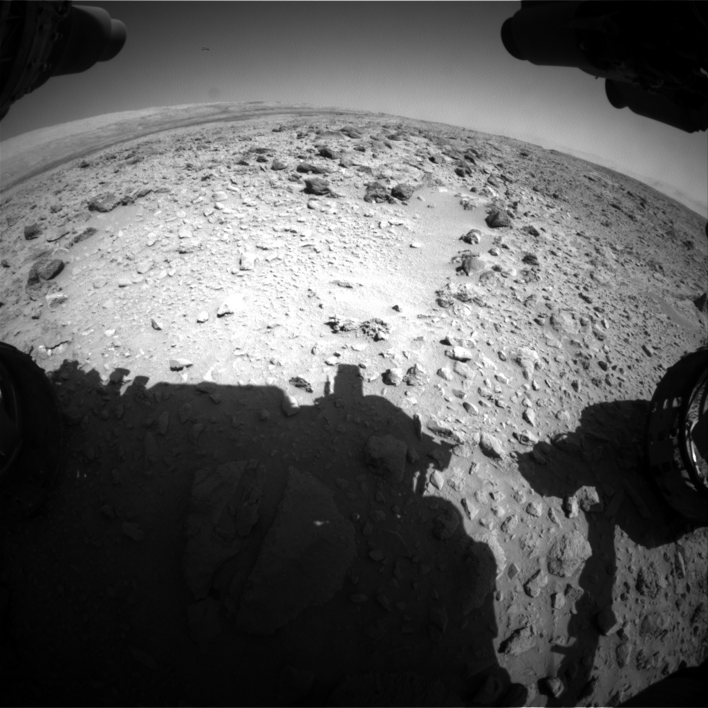 NASA's Mars rover Curiosity acquired this image using its Front Hazard Avoidance Cameras (Front Hazcams) on Sol 466
