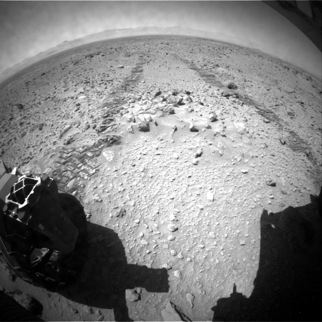 NASA's Mars rover Curiosity acquired this image using its Rear Hazard Avoidance Cameras (Rear Hazcams) on Sol 466