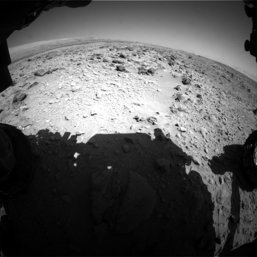 Nasa's Mars rover Curiosity acquired this image using its Front Hazard Avoidance Camera (Front Hazcam) on Sol 468, at drive 890, site number 23