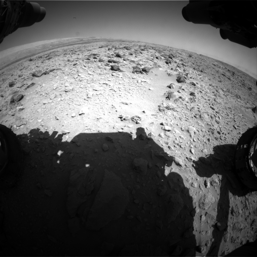 NASA's Mars rover Curiosity acquired this image using its Front Hazard Avoidance Cameras (Front Hazcams) on Sol 468