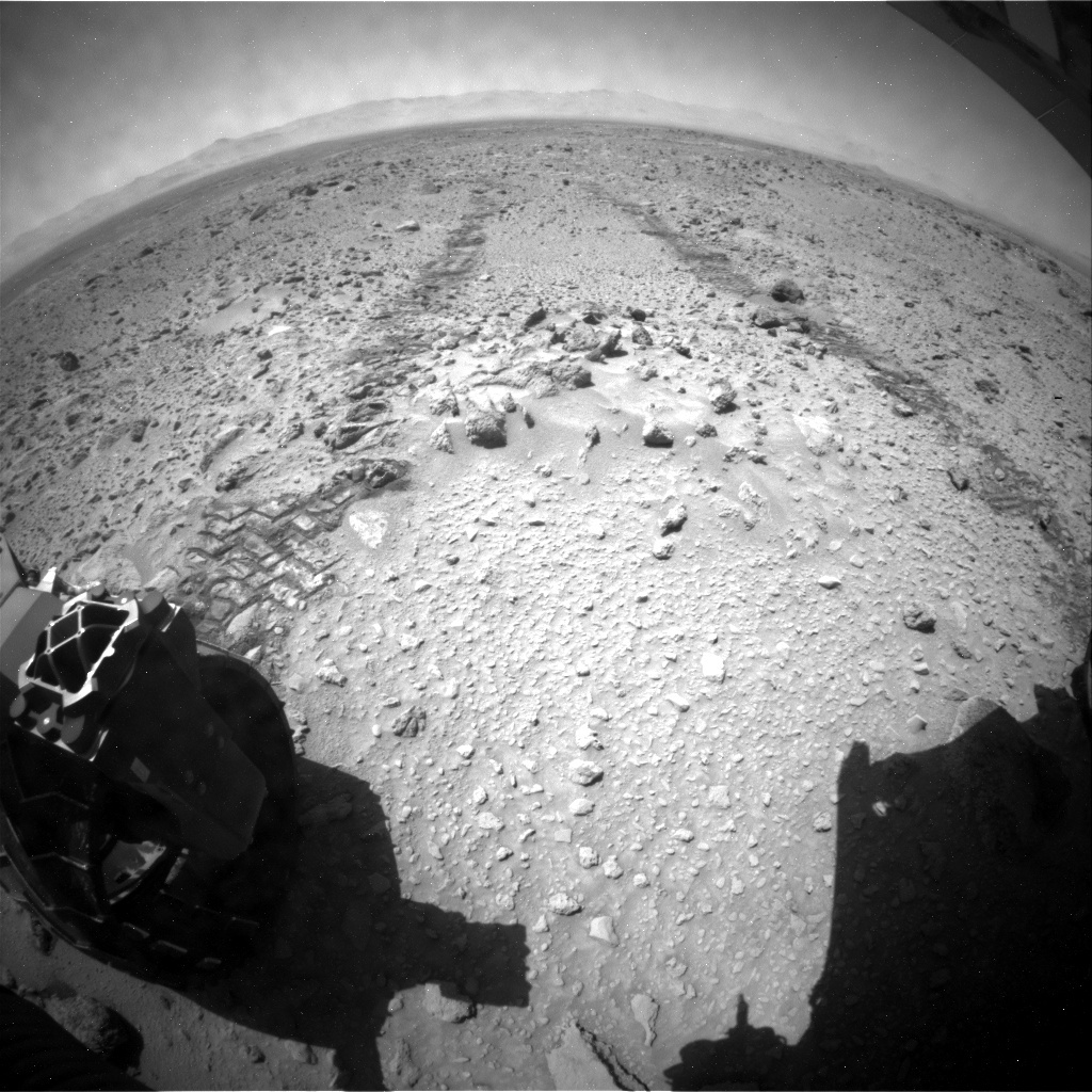 NASA's Mars rover Curiosity acquired this image using its Rear Hazard Avoidance Cameras (Rear Hazcams) on Sol 468