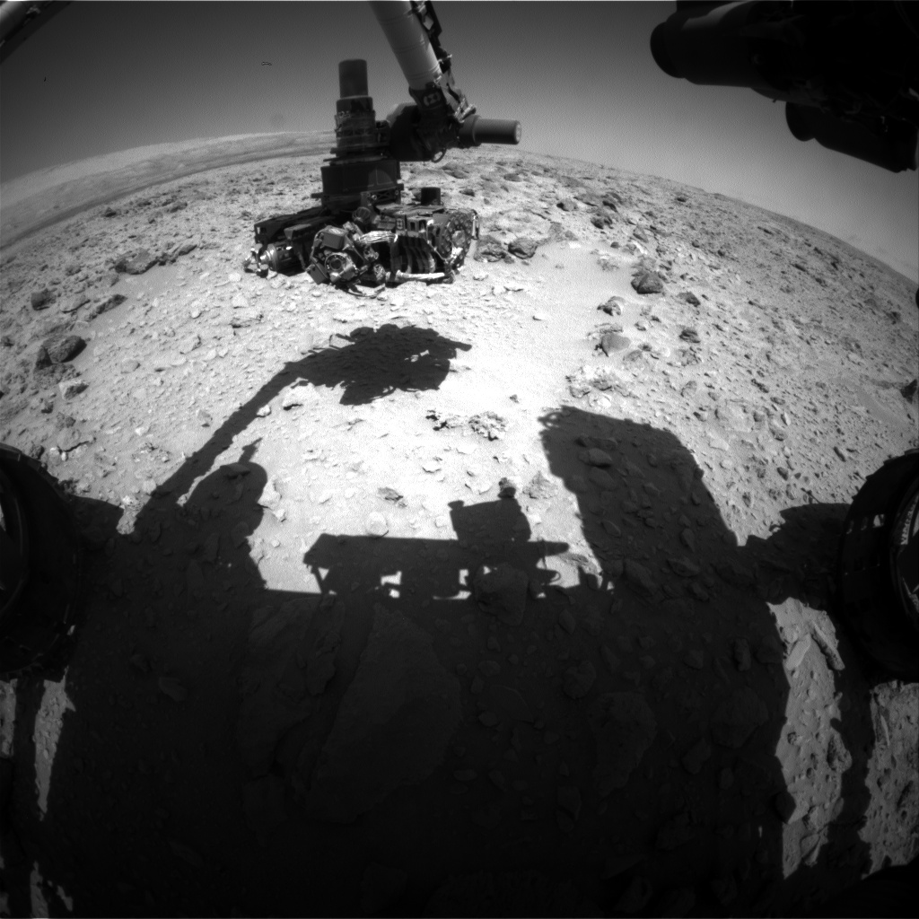 Nasa's Mars rover Curiosity acquired this image using its Front Hazard Avoidance Camera (Front Hazcam) on Sol 469, at drive 890, site number 23