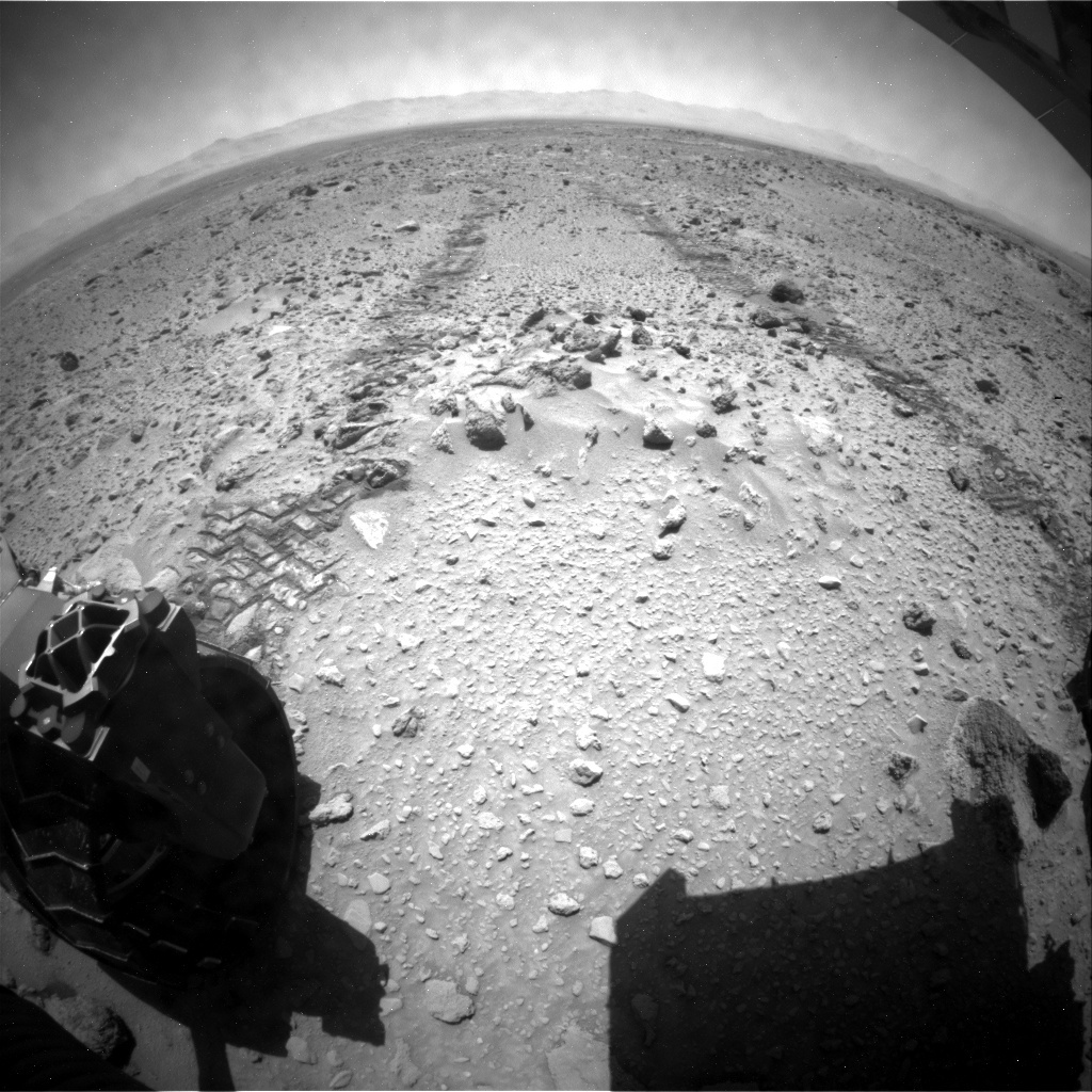 NASA's Mars rover Curiosity acquired this image using its Rear Hazard Avoidance Cameras (Rear Hazcams) on Sol 469