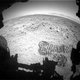 Nasa's Mars rover Curiosity acquired this image using its Front Hazard Avoidance Camera (Front Hazcam) on Sol 470, at drive 1280, site number 23