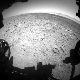 Nasa's Mars rover Curiosity acquired this image using its Front Hazard Avoidance Camera (Front Hazcam) on Sol 470, at drive 1460, site number 23