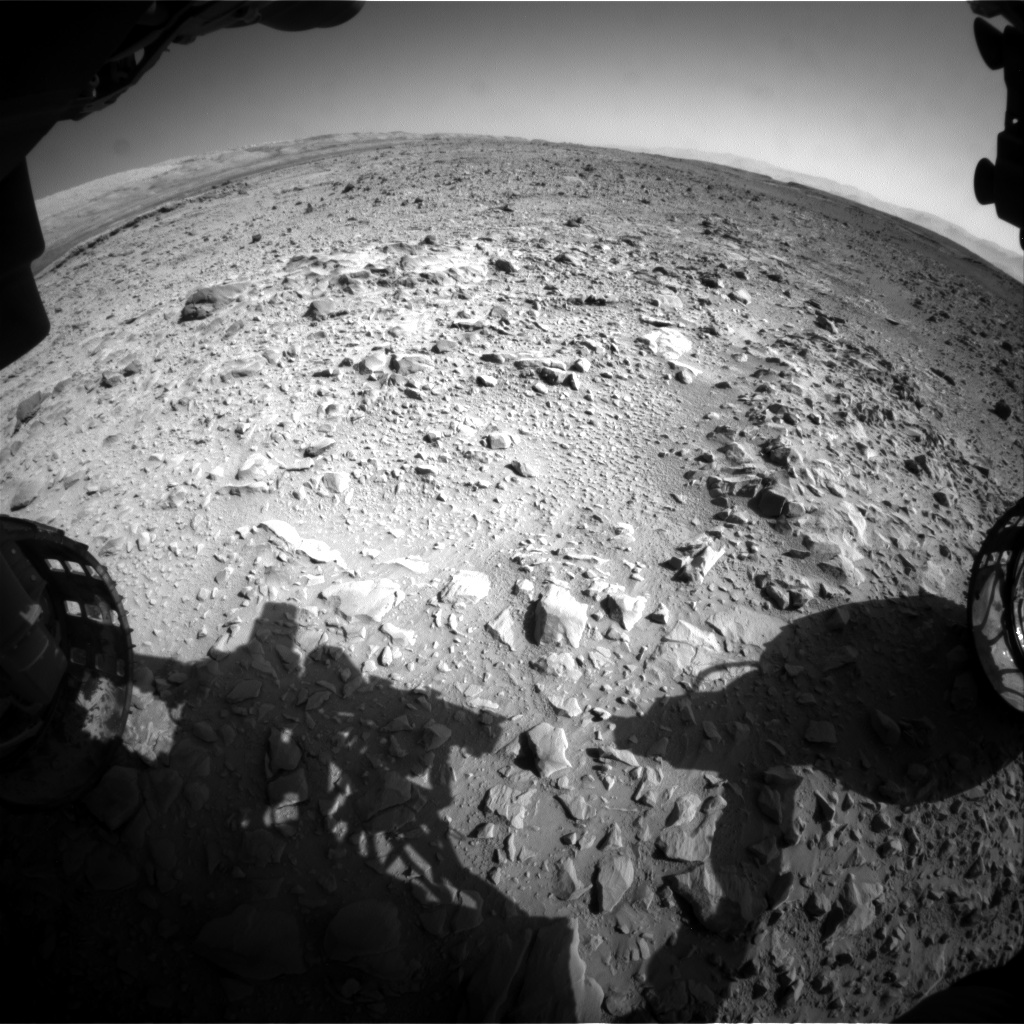 Nasa's Mars rover Curiosity acquired this image using its Front Hazard Avoidance Camera (Front Hazcam) on Sol 470, at drive 0, site number 24