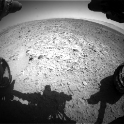 Nasa's Mars rover Curiosity acquired this image using its Front Hazard Avoidance Camera (Front Hazcam) on Sol 470, at drive 1490, site number 23