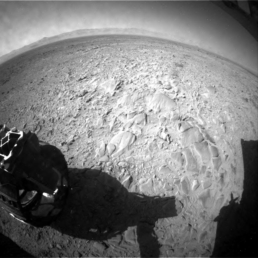 NASA's Mars rover Curiosity acquired this image using its Rear Hazard Avoidance Cameras (Rear Hazcams) on Sol 470