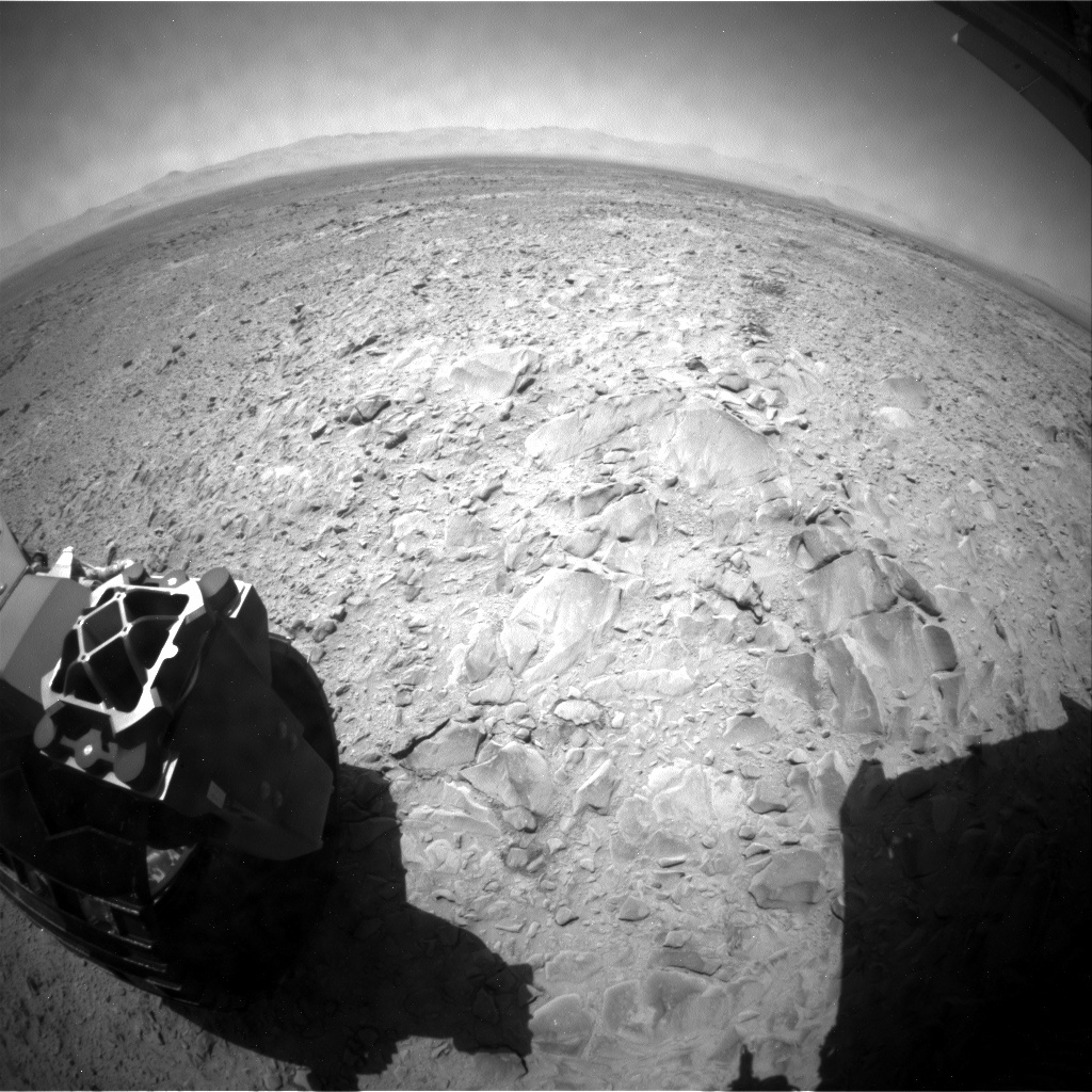 NASA's Mars rover Curiosity acquired this image using its Rear Hazard Avoidance Cameras (Rear Hazcams) on Sol 471