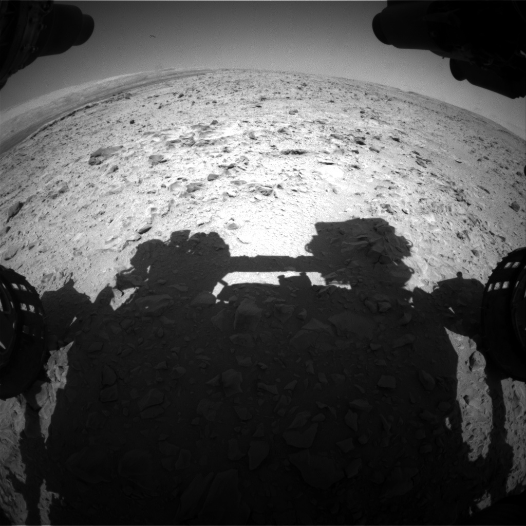 NASA's Mars rover Curiosity acquired this image using its Front Hazard Avoidance Cameras (Front Hazcams) on Sol 472