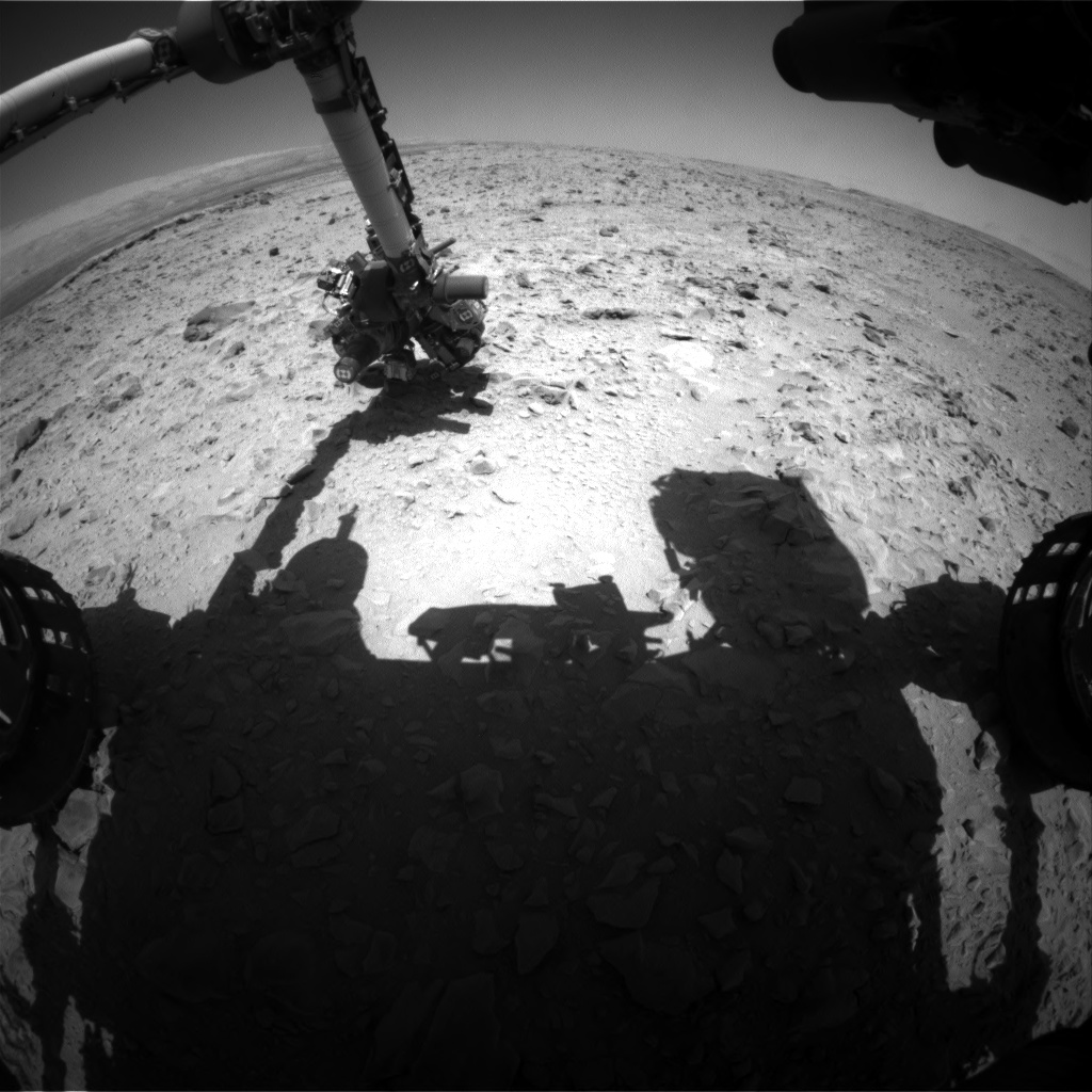 Nasa's Mars rover Curiosity acquired this image using its Front Hazard Avoidance Camera (Front Hazcam) on Sol 472, at drive 0, site number 24