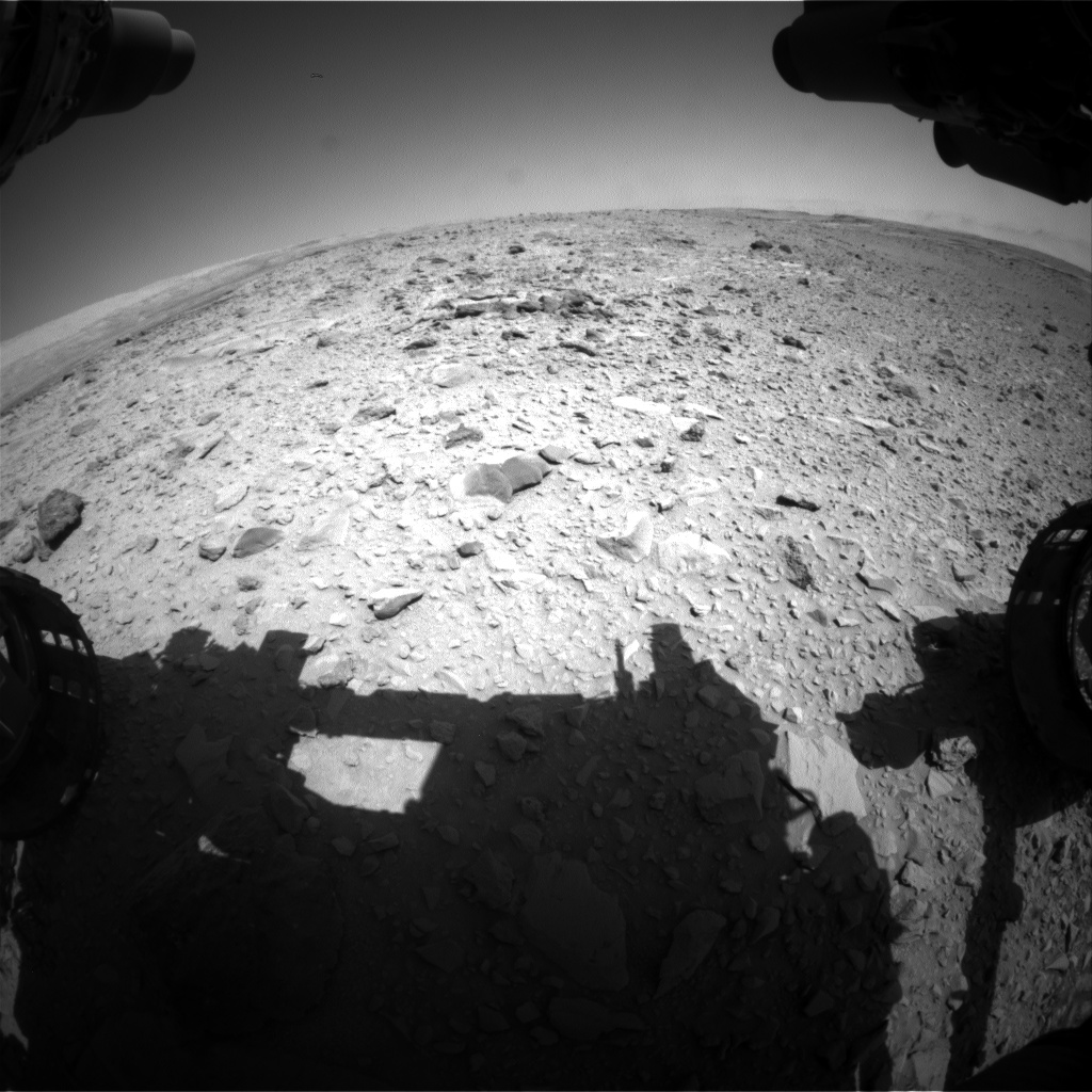 Nasa's Mars rover Curiosity acquired this image using its Front Hazard Avoidance Camera (Front Hazcam) on Sol 473, at drive 192, site number 24