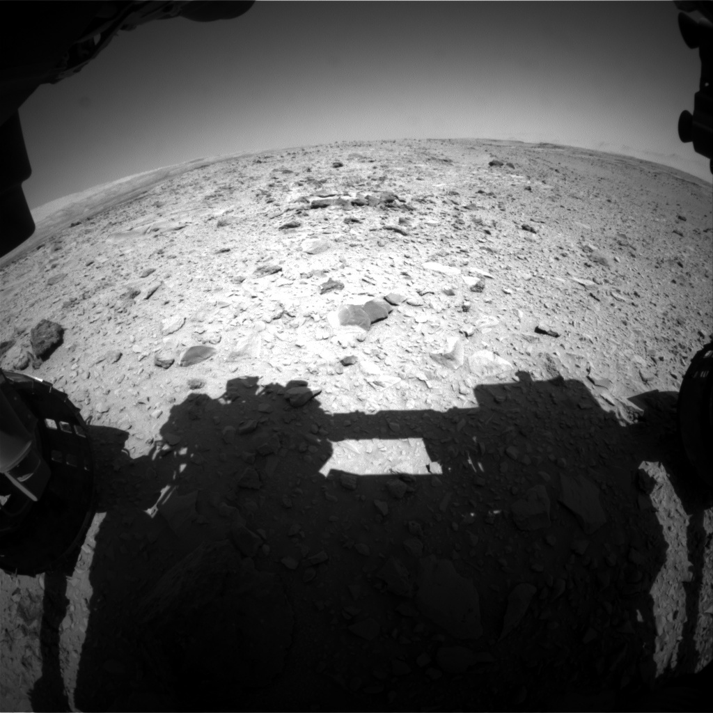 NASA's Mars rover Curiosity acquired this image using its Front Hazard Avoidance Cameras (Front Hazcams) on Sol 474
