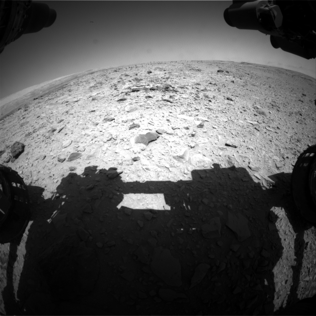 Nasa's Mars rover Curiosity acquired this image using its Front Hazard Avoidance Camera (Front Hazcam) on Sol 474, at drive 192, site number 24