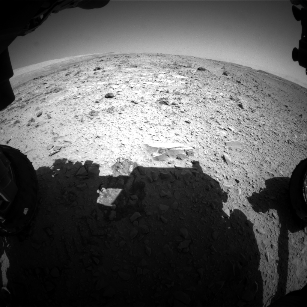 Nasa's Mars rover Curiosity acquired this image using its Front Hazard Avoidance Camera (Front Hazcam) on Sol 475, at drive 312, site number 24