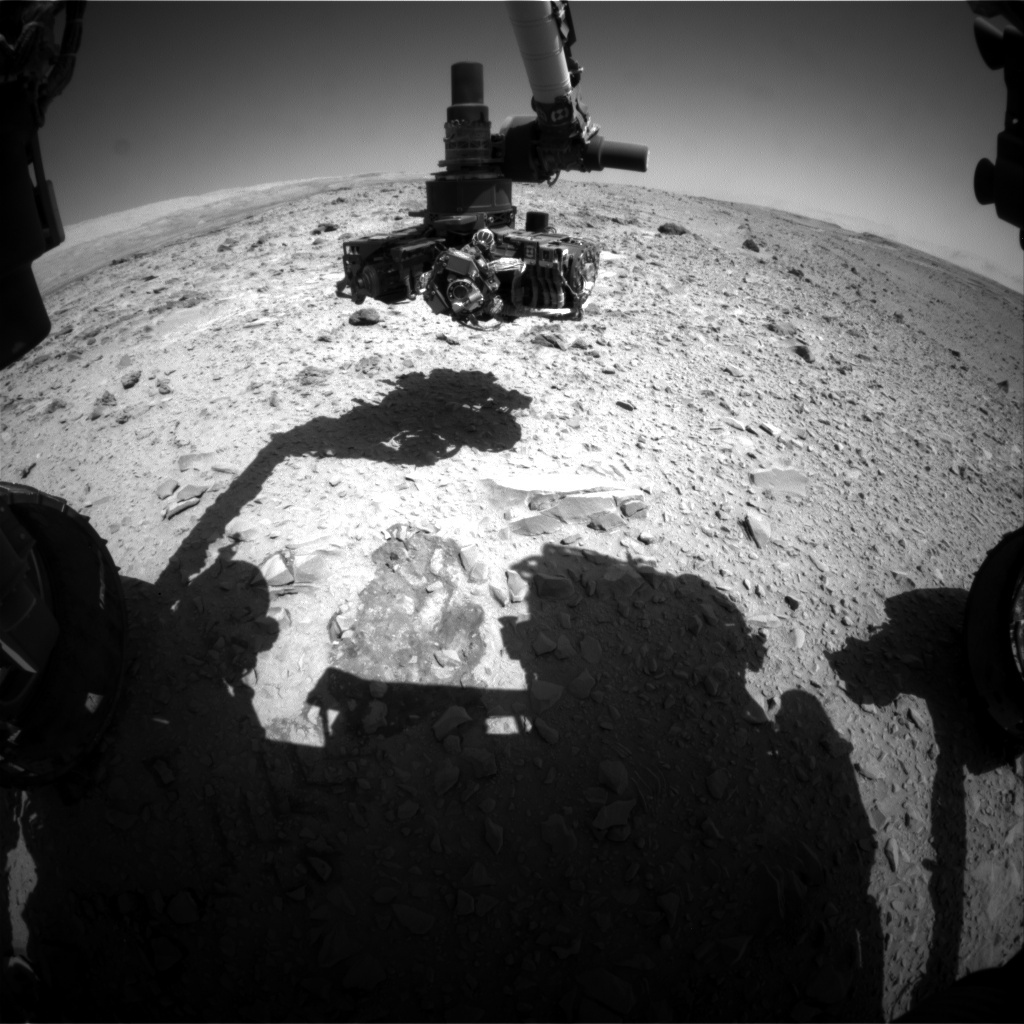 NASA's Mars rover Curiosity acquired this image using its Front Hazard Avoidance Cameras (Front Hazcams) on Sol 476