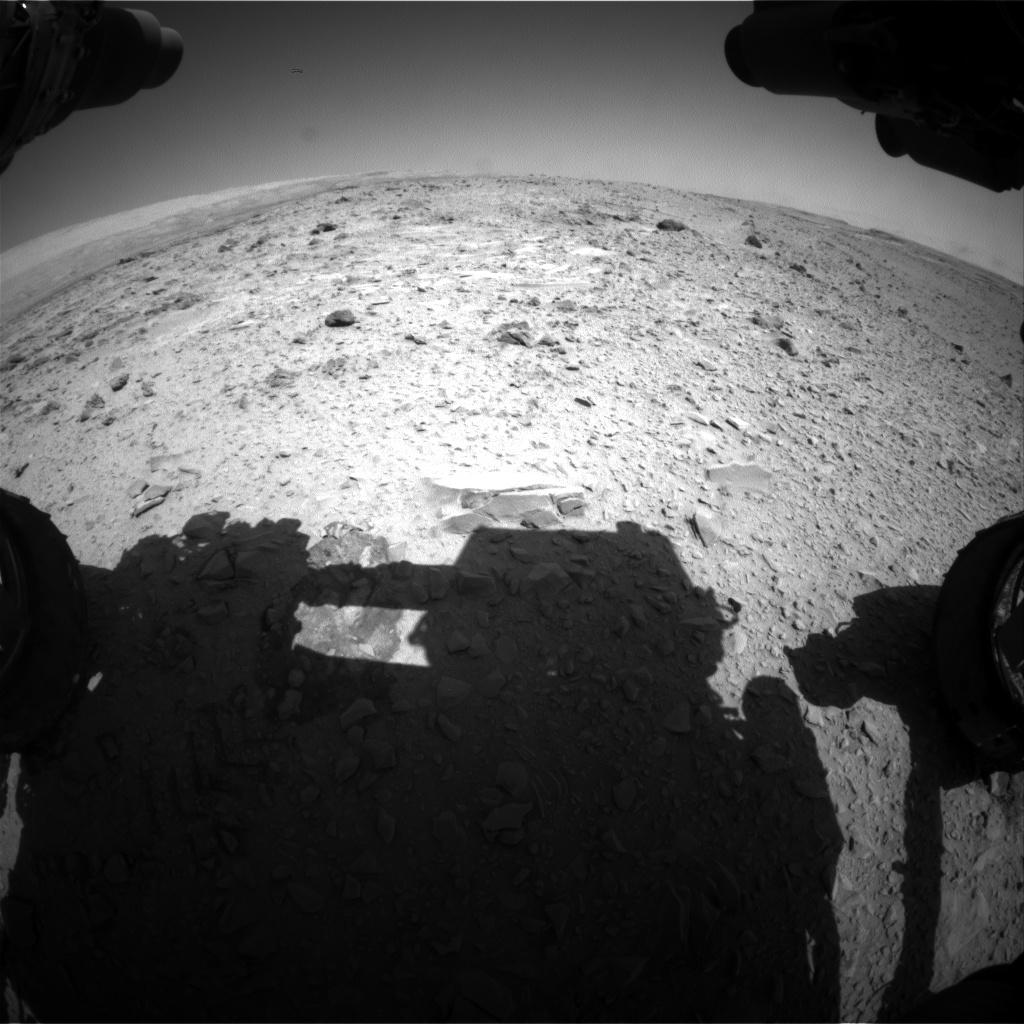 Nasa's Mars rover Curiosity acquired this image using its Front Hazard Avoidance Camera (Front Hazcam) on Sol 476, at drive 312, site number 24