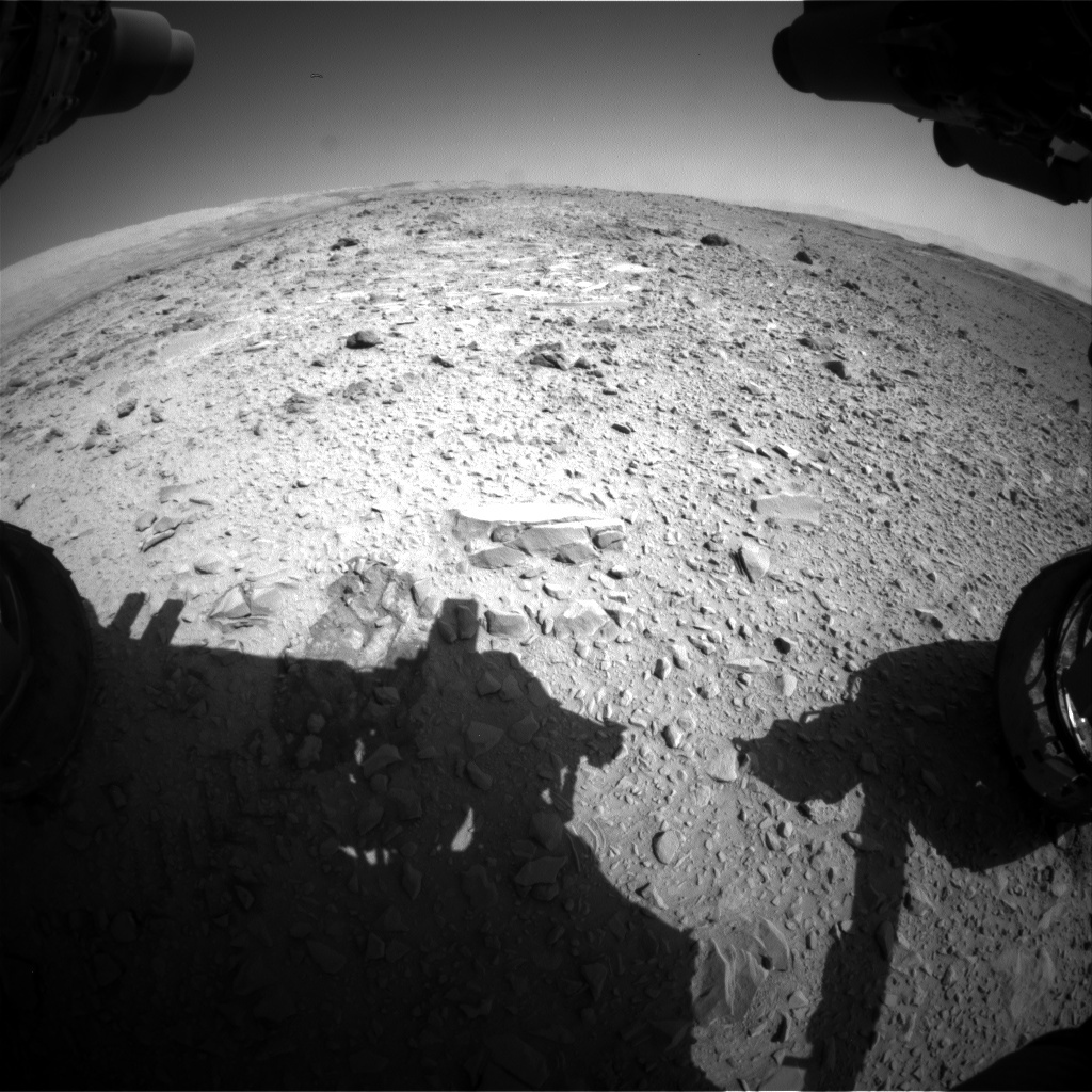NASA's Mars rover Curiosity acquired this image using its Front Hazard Avoidance Cameras (Front Hazcams) on Sol 477