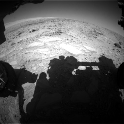 Nasa's Mars rover Curiosity acquired this image using its Front Hazard Avoidance Camera (Front Hazcam) on Sol 485, at drive 366, site number 24