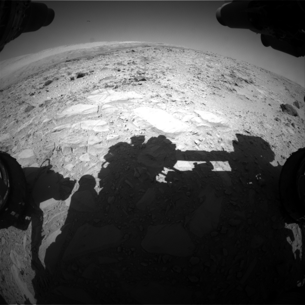 NASA's Mars rover Curiosity acquired this image using its Front Hazard Avoidance Cameras (Front Hazcams) on Sol 485